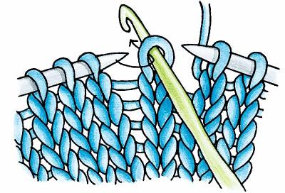 Вязание спицами: пропущенные и спущенные петли